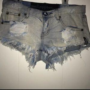 One teaspoon shorts jean shorts Bonitas 26